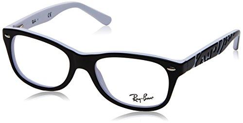 Ray-Ban Unisex-Kinder 0ry 1544 3579 48 Brillengestell, Schwarz (Topo Black On White),