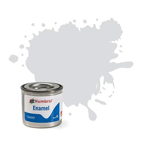 Humbrol 14 ml No. 1 Tinlt Enamel Paint 196 (Satinado gris claro)