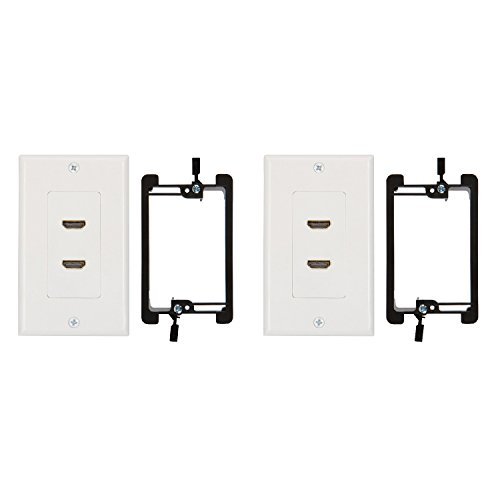 Buyer 's Point HDMI Wall Plate mit 6Pigtail White Kit 2 Port Dual Tv Wall Plate