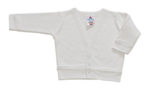 BabywearUK Baby Strickpulli Weiß - 6 - 12 Monate - British Made