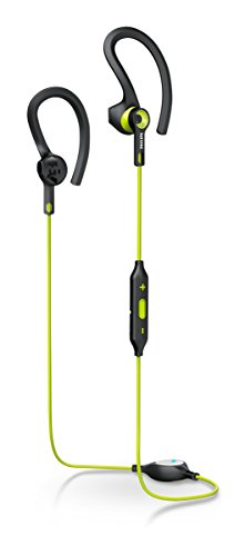Philips SHQ7900CL Actionfit Cuffie Sportive, Wireless, Bluetooth, 5 mW, 105 dB, 32 Ω, Nero/Verde