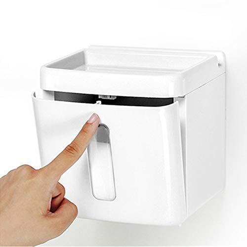 Yiqinyuan Weiß Multifunktionsbadezimmer Toilettenpapierhalter Platz Handy Toilettenpapier Spender Tissue Box White - Handy-white Box