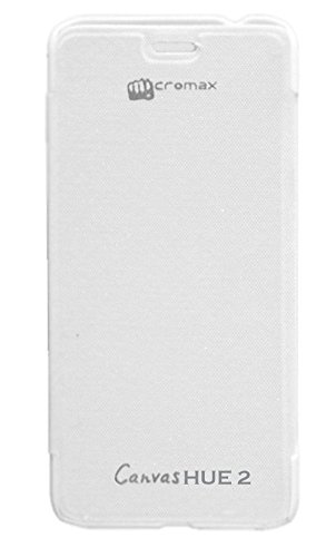 Evoque Flip Cover For Micromax Canvas Hue 2 A316 - White  available at amazon for Rs.149
