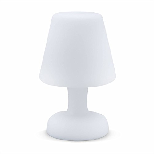 Alice's Garden - Lampe de table LED 26cm - Lampe de table décorative lumineuse, Ø 16cm, recharge sans fil