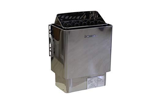 Saunaofen 9,0 kW Edelstahl, ohne Steuerung/ohne Steine