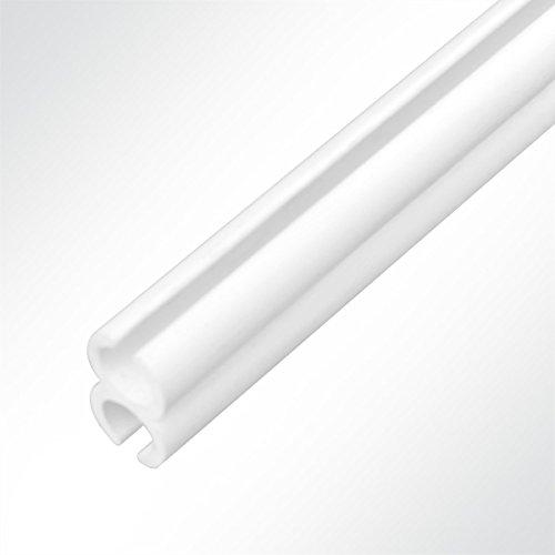 Preisvergleich Produktbild LYSEL Kunststoff Doppelkederschiene PVC Kederverbundprofil Vorzeltkederschiene 2 Meter