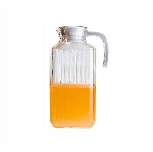 Arcoroc Quadro Nevera jarra con tapa de plástico blanco 1,7l, 1 Jarra