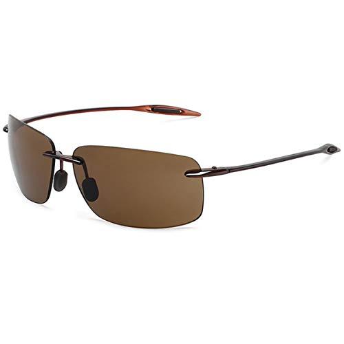 Sonnenbrillen Classic Sports Sunglasses Men Women Male Driving Golf Rectangle Rimless Ultralight Frame Sun Glasses UV400 De Sol MJ8009 C2 Brown Brown