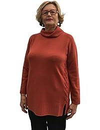 Carla Ferroni Maglione Dolcevita 100% Lana Arancione Made in Italy Art. 3989 fe273cf6b7e2