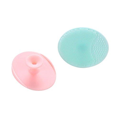 perfeclan 2 stk. (Rosa + Blau) Gesichtreinigungs Bürste Pinsel Pads Brush für Reinigung der...