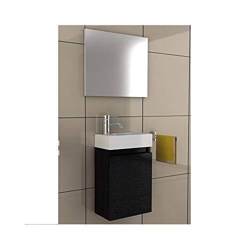 Badmöbel Komplettset mit Waschbecken aus Mineralguss und Unterschrank mit Softclose-Funkt