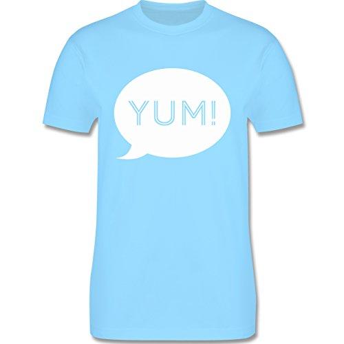 Küche - Yum Sprechblase - Herren Premium T-Shirt Hellblau