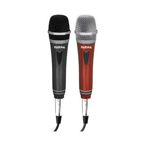 Karma Italiana DM 522 microfono per karaoke parlato ecc on off e cavo 4mt