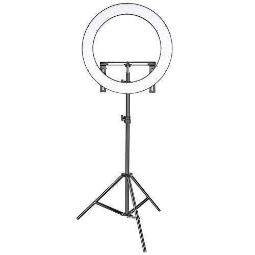 Neewer Fotostudio LED Ringlicht Beleuchtungskit: 19-Zoll-Außen 14-Zoll-Innen 3200-5600K CRI 96+ Dimmbares Bi-Farbe SMD LED Ringlicht mit Halterung, 2 Meter Lichtständer für Portrait Video Fotgrafie