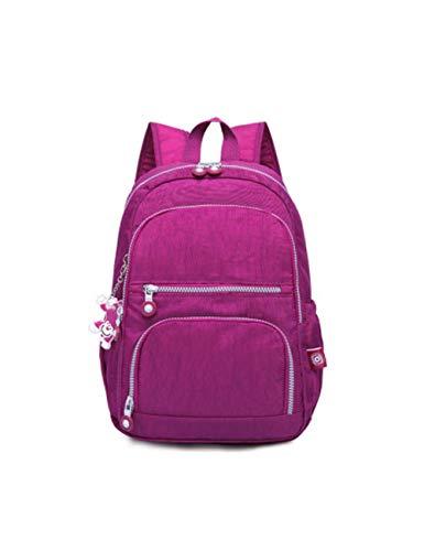 SJBRHN Rucksack Weiblichen Rucksack Frauen Casual Schultasche Männer Mit Großer Kapazität Laptop Sporttaschen Jugendliche wasserdichte Reisetasche, Lavendel - Lavendel Vintage Handtasche