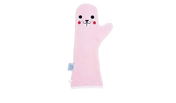 besserer Halt f/ür Ihr Baby unter der Dusche Biber Rosa Baby Waschhandschuh Dusch Waschlappen