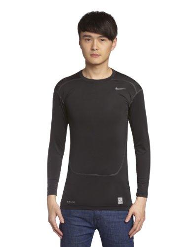 Nike T Shirt 449794 010 Kompressionsshirt, Black/Cool Grey, L (Nike Superfly Obra)
