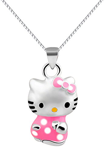 Red-Moon-Collar-Mujer-18-con-colgante-Hello-Kitty-en-plata-esterlina-925-CM4133