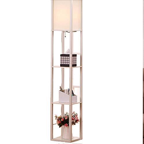 Teng Peng Regal Stehleuchte Massivholz Spalte Kreative Moderne Minimalistische Vertikale Rack Wohnzimmer Schlafzimmer Boden Hängen Perle Schalter -160 cm Beleuchtung zu Hause (Farbe : A) Perlen-rack