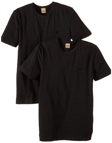 Camel Active Bodywear CA20 2-Pack T-Shirt 400492 Herren Shirts/ T-Shirts, Gr. (M), Schwarz (black )