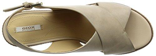 Geox D Domezia C, Sandales Compensées Pour Femmes Beige (lt Taupe C6738)