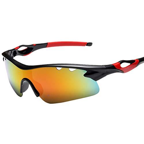 jfhrfged Fahrradbrillen Unisex leichte sportliche Außensonnenbrillen UV-Schutzglas Umweltschutzmaterial Sonnenbrille 8 Farben (Hot Pink)