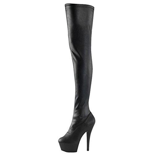High Heels Overknee, Damen, Schwarz (Schwarz), Größe 39 (High Heel Heels Overknee)