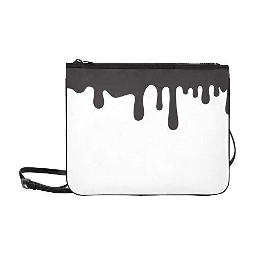 Skizze der schmelzenden Schokolade Muster benutzerdefinierte hochwertige Nylon dünne Clutch Crossbody Tasche Umhängetasche ()