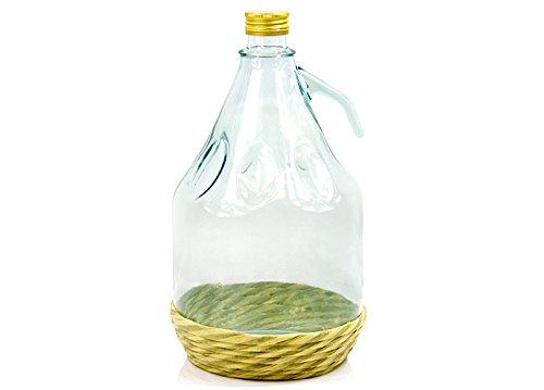 Weinballon Glasballon mit Schraubverschluß Glasflasche GÄRBALLON 3 L