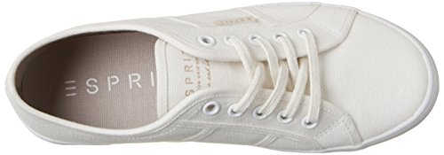 Esprit Italia Lace Up, Sneakers Basses Femme Ivoire (Offwhite 110)