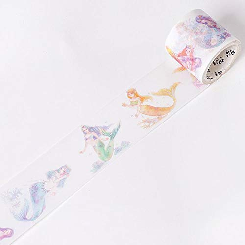 TXOMDG Die kleine Meerjungfrau Washi Tape DIY Dekor Scrapbooking Aufkleber Abdeckpapier Dekoration Klebeband SchulmaterialD (Meerjungfrau-dekor Kleine Die)