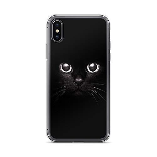 blitzversand Handyhülle ORANGE kompatibel für Sony Xperia XA1 Blak Cat Schutz Hülle Case Bumper transparent rund um Schutz M9