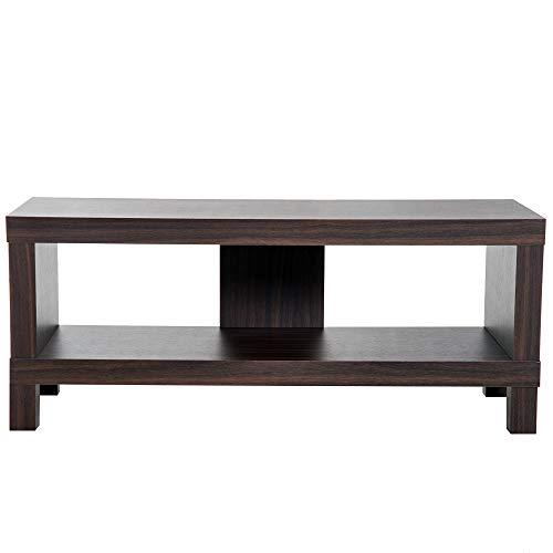 Homcom Mesa Soporte de TV Mueble de Comedor Salón Moderno Armario TV con Estante 90x35x37cm Madera Color Nogal