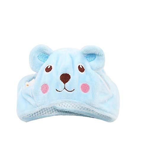 Für Hunde Bär Kostüm Panda - TDlmfRDi Hundehut Kostüm Lustige Nette Adjustable Tier Bären-Form Hund Katze Hut Mütze Pet Kostüm Accessoires Größe L Blau