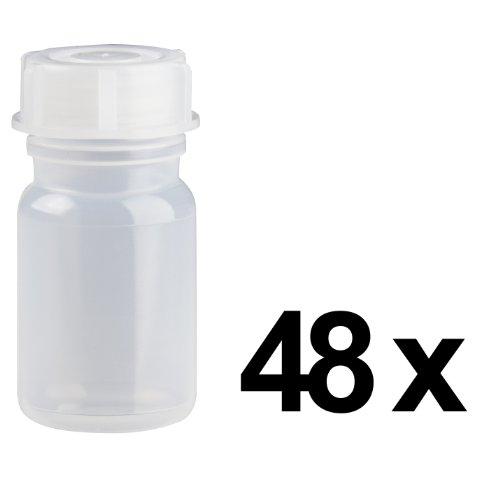 48 x 50ml Weithalsflasche / Laborflasche Naturfarben aus LDPE inkl. Schraubverschluss *** Weithalsflaschen, Laborflaschen, Plastikflasche, Kunststoffflasche, Plastikflaschen, Kunststoffflaschen ***