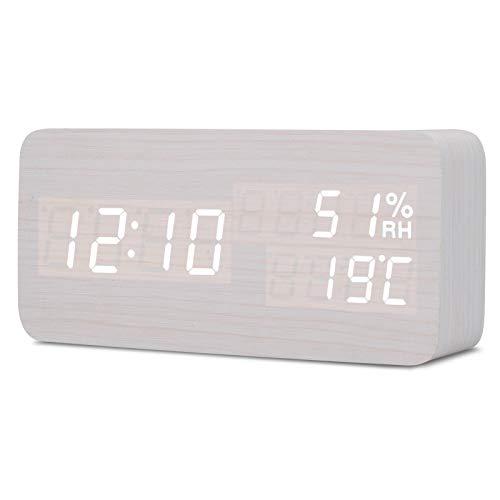 SMAERTHYB Reloj De Alarma Led Digital Control De Sonido Reloj De Estudiante Mesa De Escritorio Electrónica Escritorio