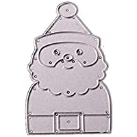 Feida - Troqueles de corte, diseño navideño de Papá Noel de Navidad, troqueles de
