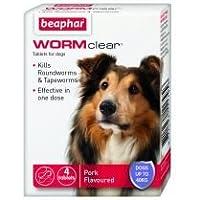 Beaphar Reino Unido WORMclear perro de hasta 40kg 4tab paquete de 1