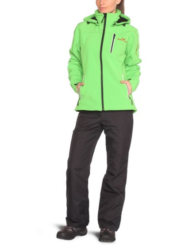 Black Canyon Damen Softshelljacke, grün/schwarz, BC2621