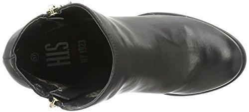 HIS - 28408, Stivali bassi con imbottitura leggera Donna Nero (Nero (nero))