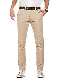 Yazubi Hombre Pantalones Chinos con Cinturón Dustin