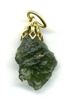 Colgante de piedra moldavita
