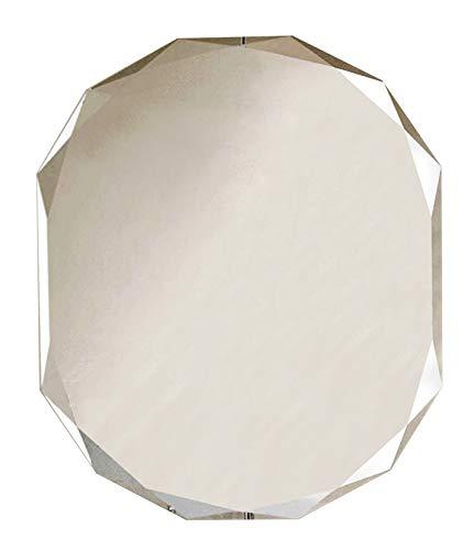 Espejo de baño ovalado con corte de diamante clásico de INTELLIGENT DESIGN, 700 x 500 mm