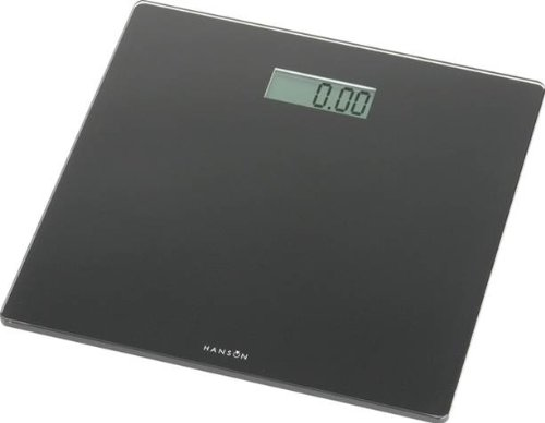 Hanson HX6000 Blk Slim Electronic Glass Bathroom Scale Black
