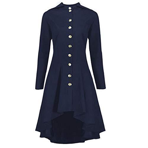 Gothic Mäntel Kleider Lace Up Kapuzenmantel Trenchcoat Lang Hoodie Asymmetrisch Button-down Jacke Windbreaker Lang Gotischer Gehrock Uniform Kostümparty Outwear Oversize Rovinci ()