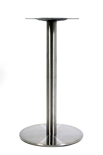 Tischgestell, Tischfuß, Edelstahl Gestell, runder Fuß, 72 cm -