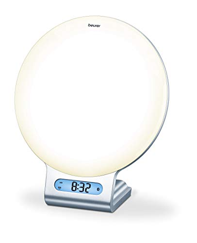 Beurer WL 75 Lichtwecker mit Radio: Simulation von Sonnenauf- und Untergang für ein leichteres Einschlafen und Aufwachen