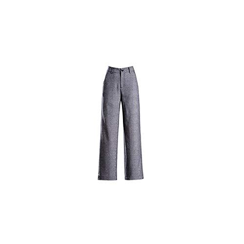 Strawberryran Hosen Frauen Plaid mittlere Taillen-Taschen voller Länge Vintage, grau, 32 (Ihr Körper American Girl)