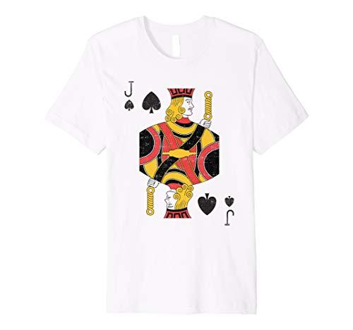 (Jack of Pik Spielkarten Halloween Kostüm Shirt)