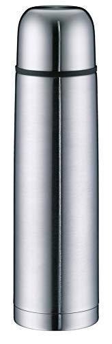 alfi 5457.205.100 Isolierflasche isoTherm Eco, Edelstahl mattiert 1,0 l, Drehverschluss, 12 Stunden heiß, 24 Stunden kalt, BPA-Free